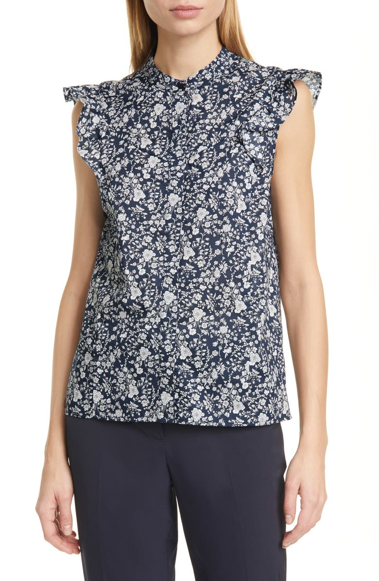 JUDITH & CHARLES Opera Floral Blouse, Main, color, 469