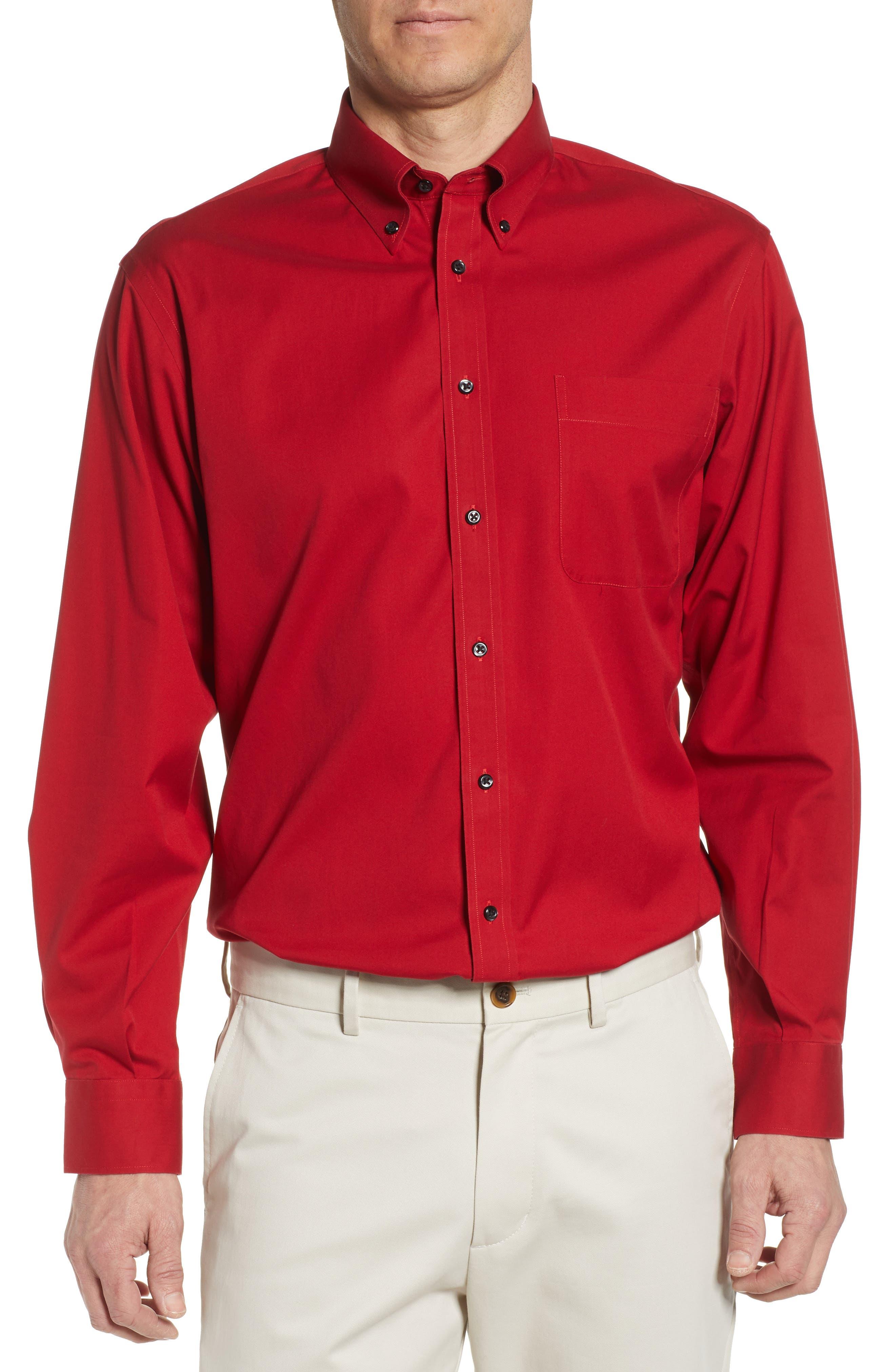 Nordstrom Shop Smartcare(TM) Classic Fit Dress Shirt, Red