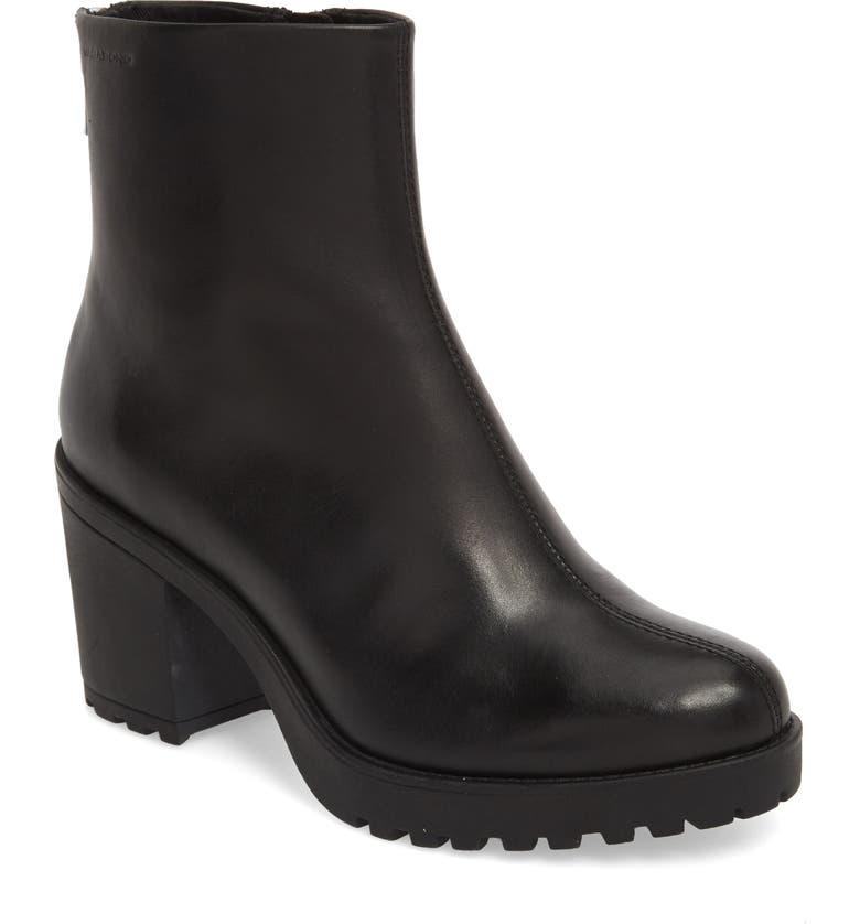 VAGABOND SHOEMAKERS Grace Block Heel Bootie, Main, color, BLACK LEATHER