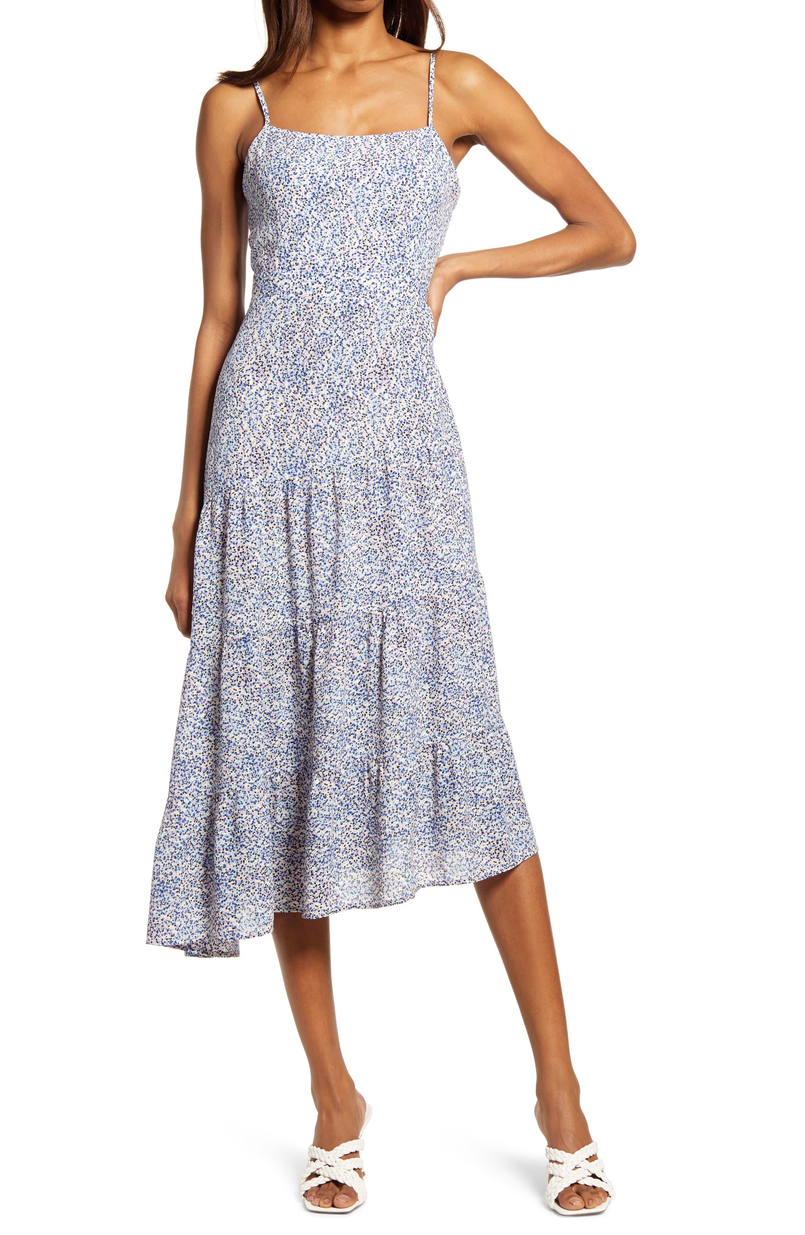Mini Dot Asymmetric Dress