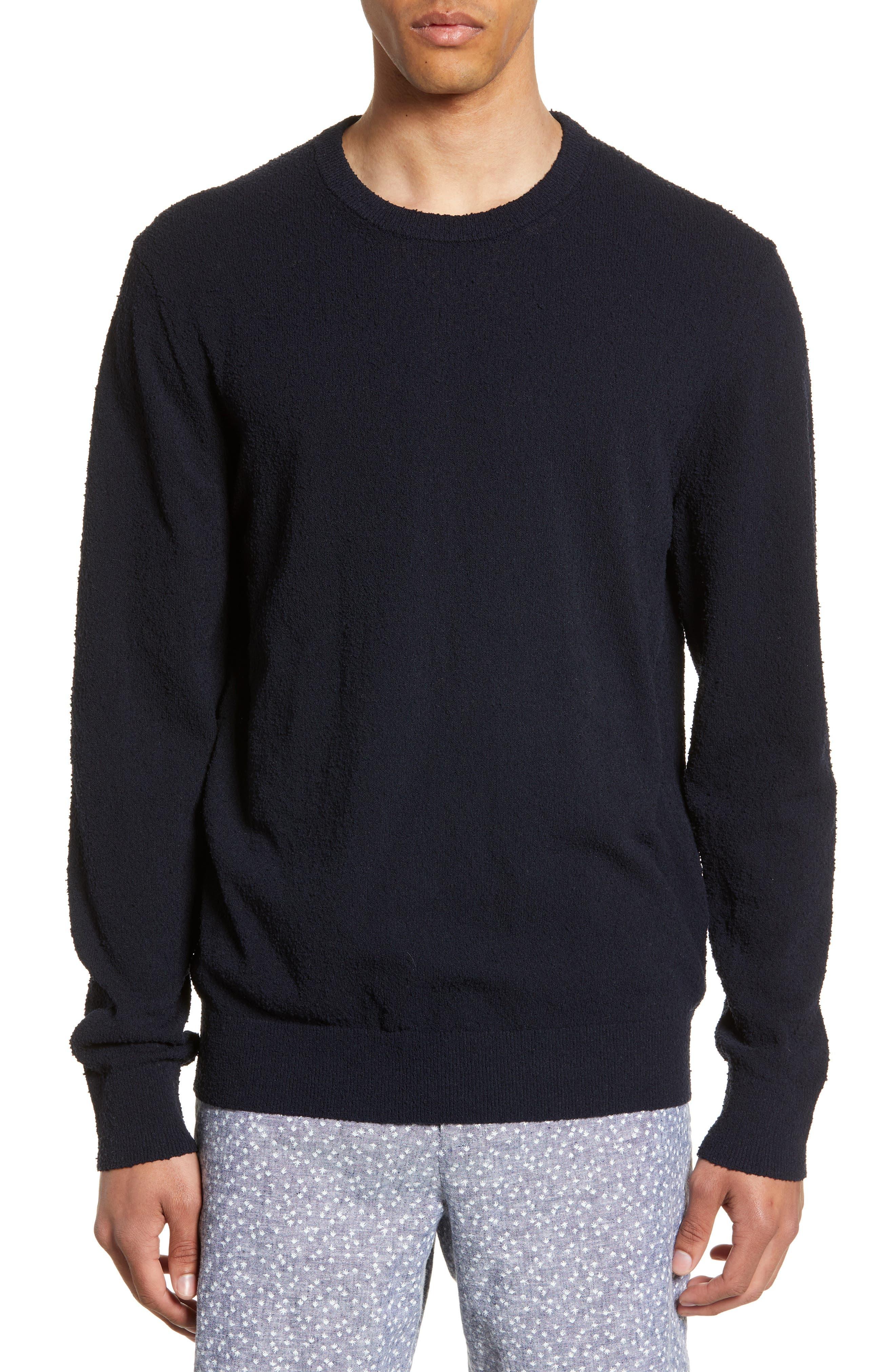 Club Monaco Slim Fit Boucle Sweater, Blue