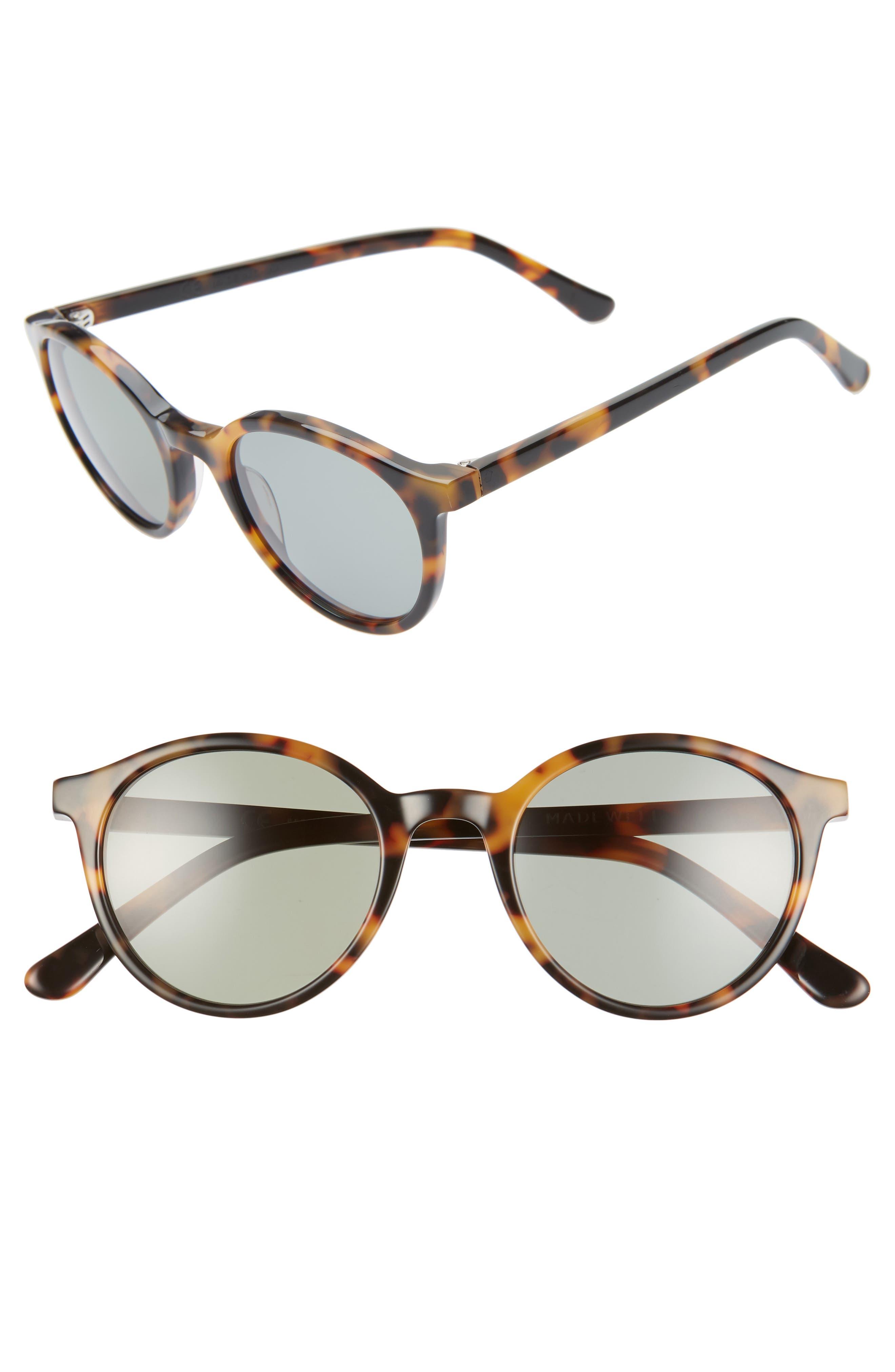 Madewell Layton 4m Round Sunglasses - Tortoise
