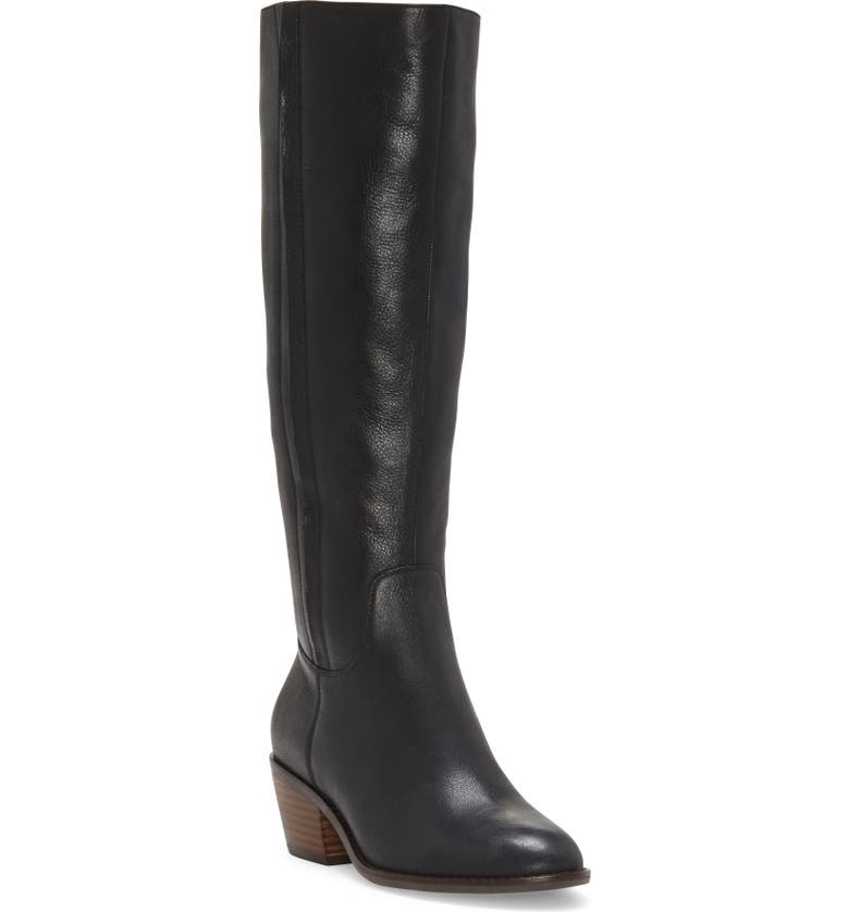 LUCKY BRAND Iscah Knee High Boot, Main, color, BLACK LEATHER