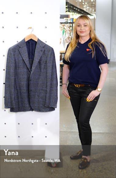 Trim Fit Windowpane Wool Blend Sport Coat, sales video thumbnail