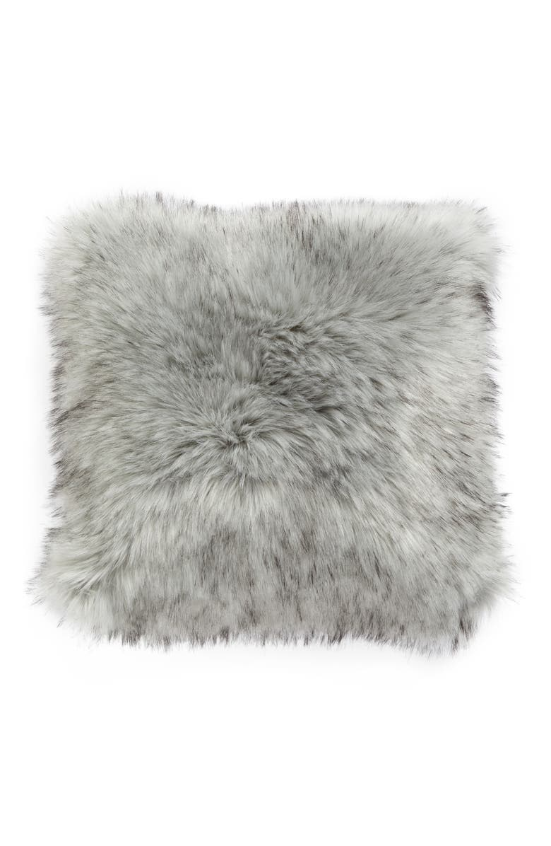 NORDSTROM AT HOME Faux Fur Accent Pillow, Main, color, 020