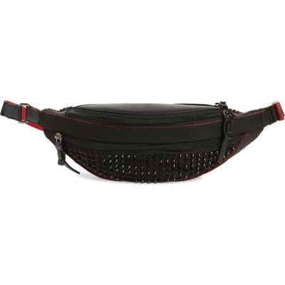 Christian Louboutin Parisnyc Spiked Nylon & Leather Belt Bag - Black
