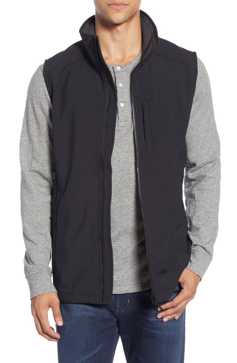 HELLY HANSEN Paramount Water Resistant Softshell Vest, Main, color, BLACK