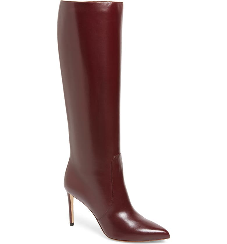 FRANCESCO RUSSO Tall Boot, Main, color, BURGUNDY
