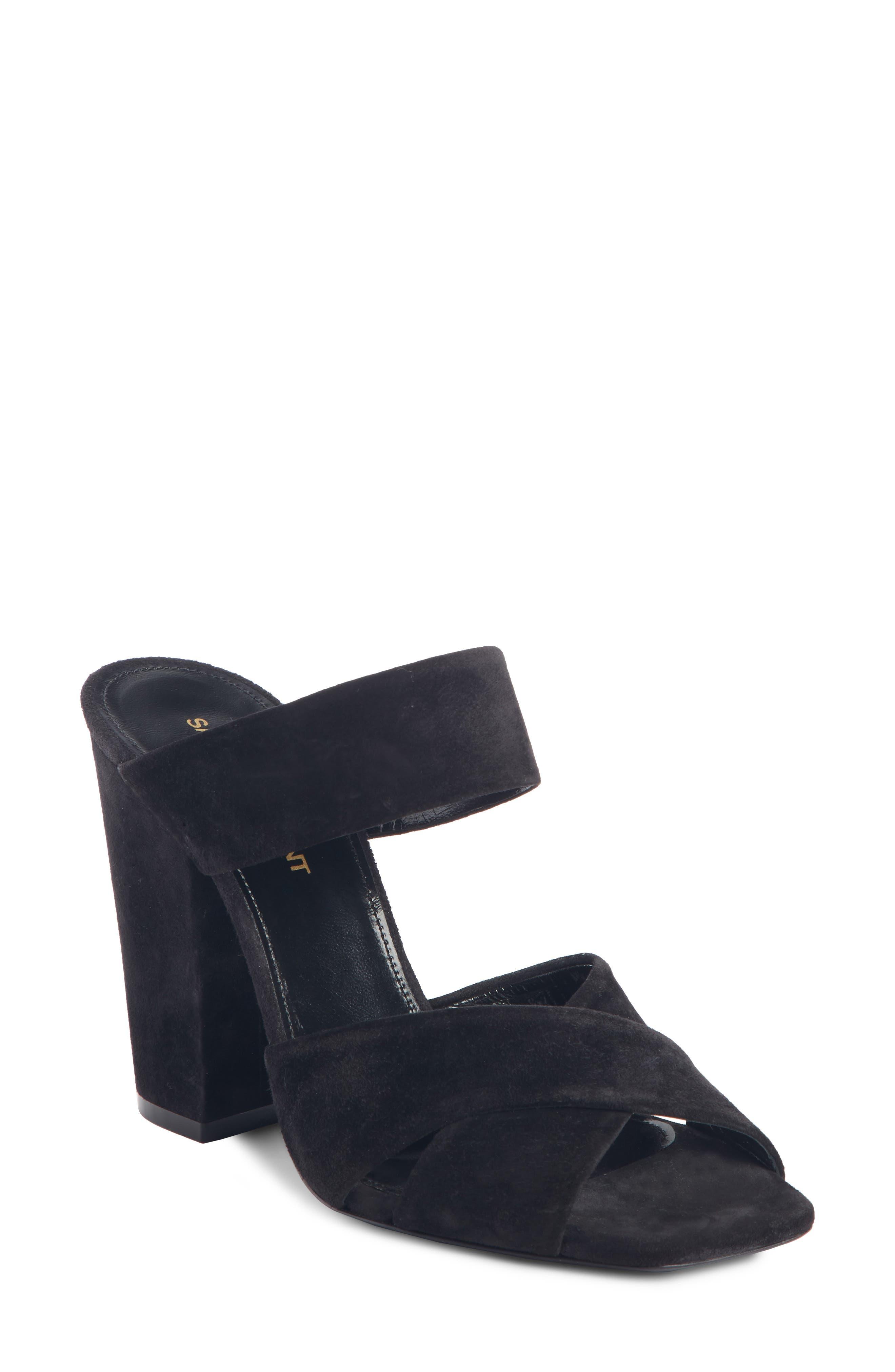 Saint Laurent Jodie Sandal, Black