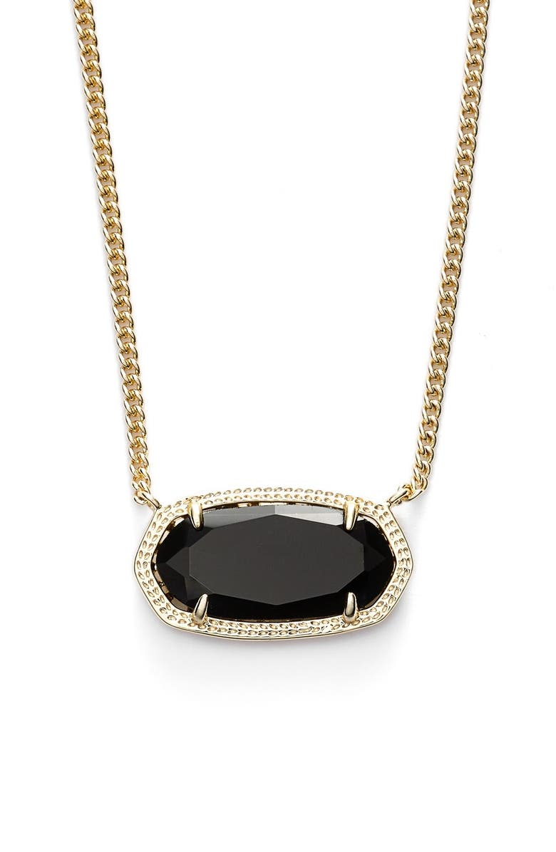 KENDRA SCOTT 'Dylan' Stone Pendant Necklace, Main, color, 001