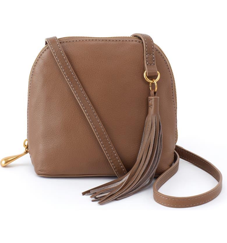 HOBO Nash Calfskin Leather Crossbody Bag, Main, color, GRAYSTONE