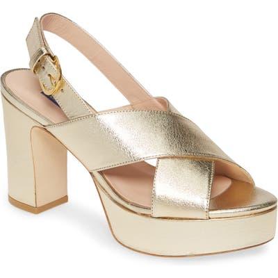 Stuart Weitzman Jerry Platform Sandal, Metallic