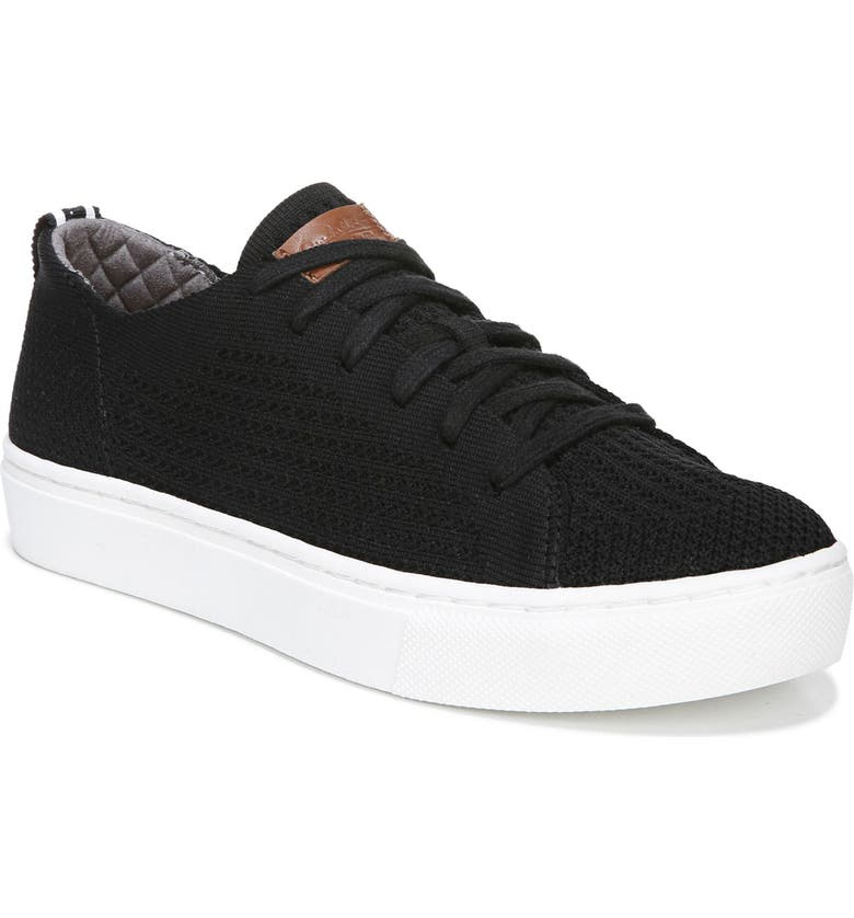 DR. SCHOLL'S All In Platform Sneaker, Main, color, BLACK FABRIC