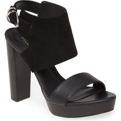 Pelle Moda Parker Platform Shield Slingback Sandal- Black