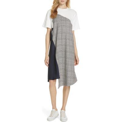 Clu Colorblock Asymmetrical Dress, White