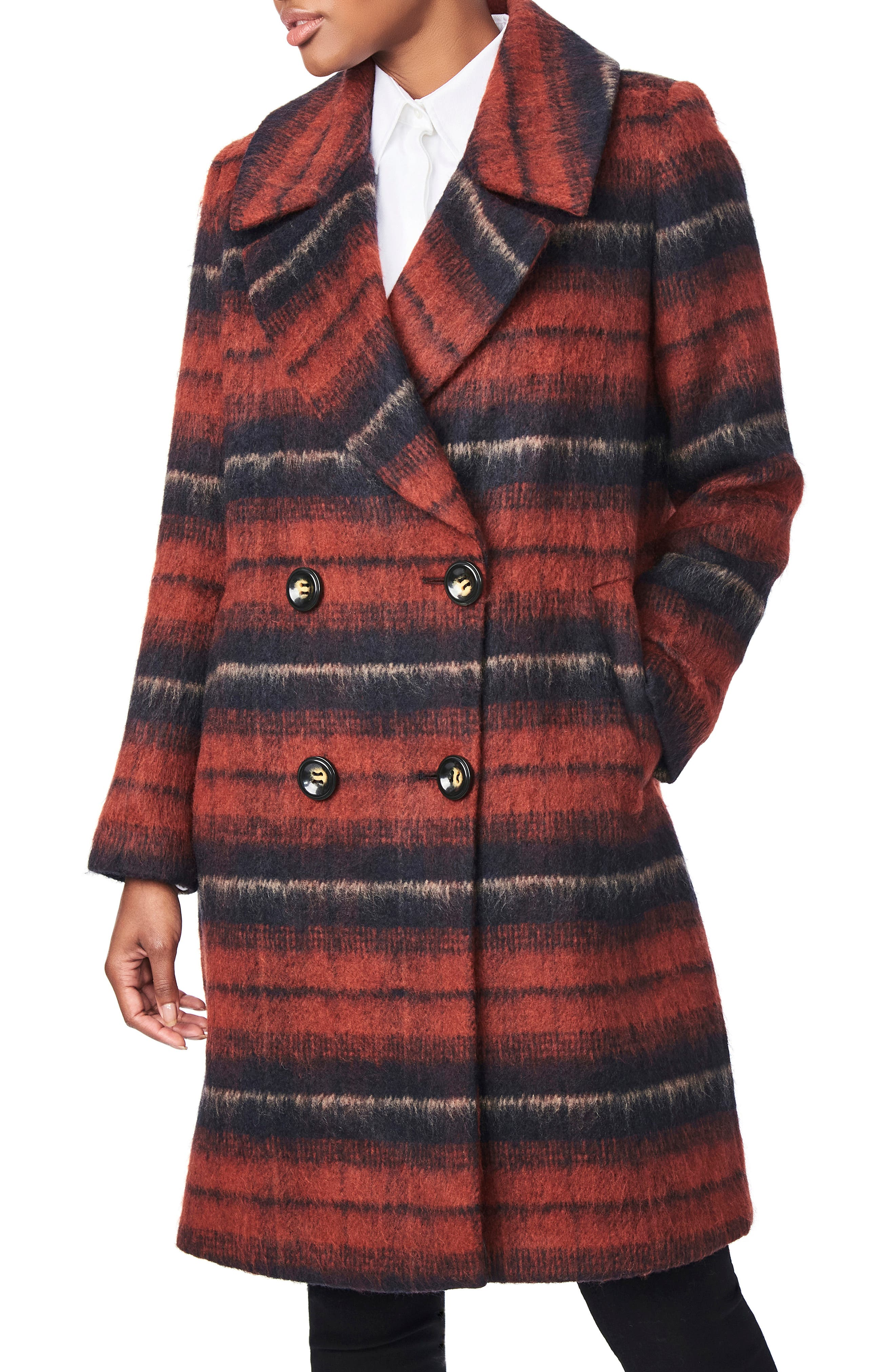 1940s Style Coats and Jackets for Sale Womens Bernardo Plaid Coat $149.90 AT vintagedancer.com
