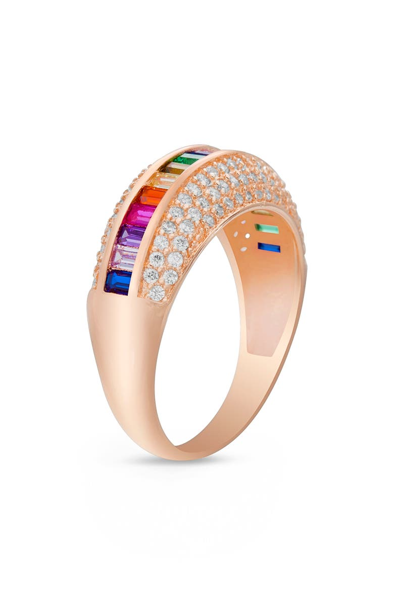 LESA MICHELE Wide Baguette Band Ring, Main, color, 710
