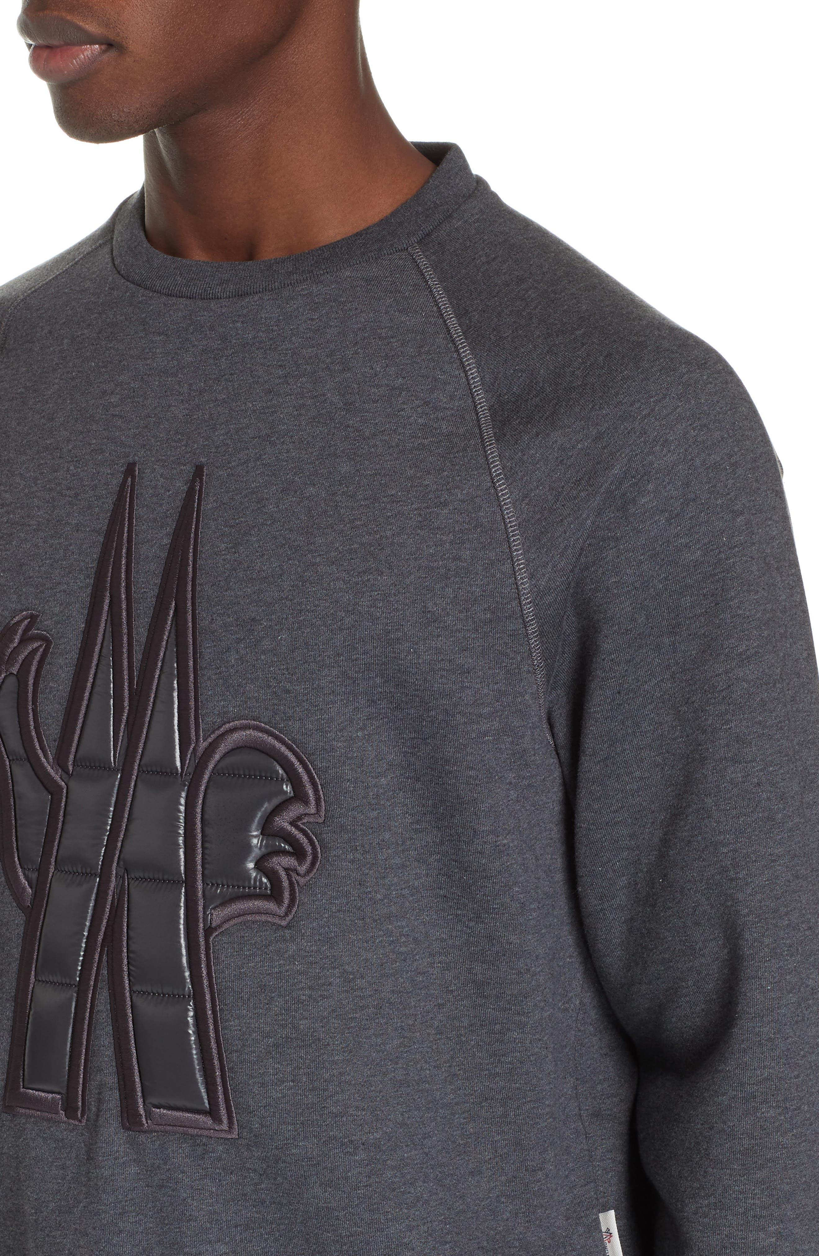 ,                             Logo Sweatshirt,                             Alternate thumbnail 4, color,                             GREY