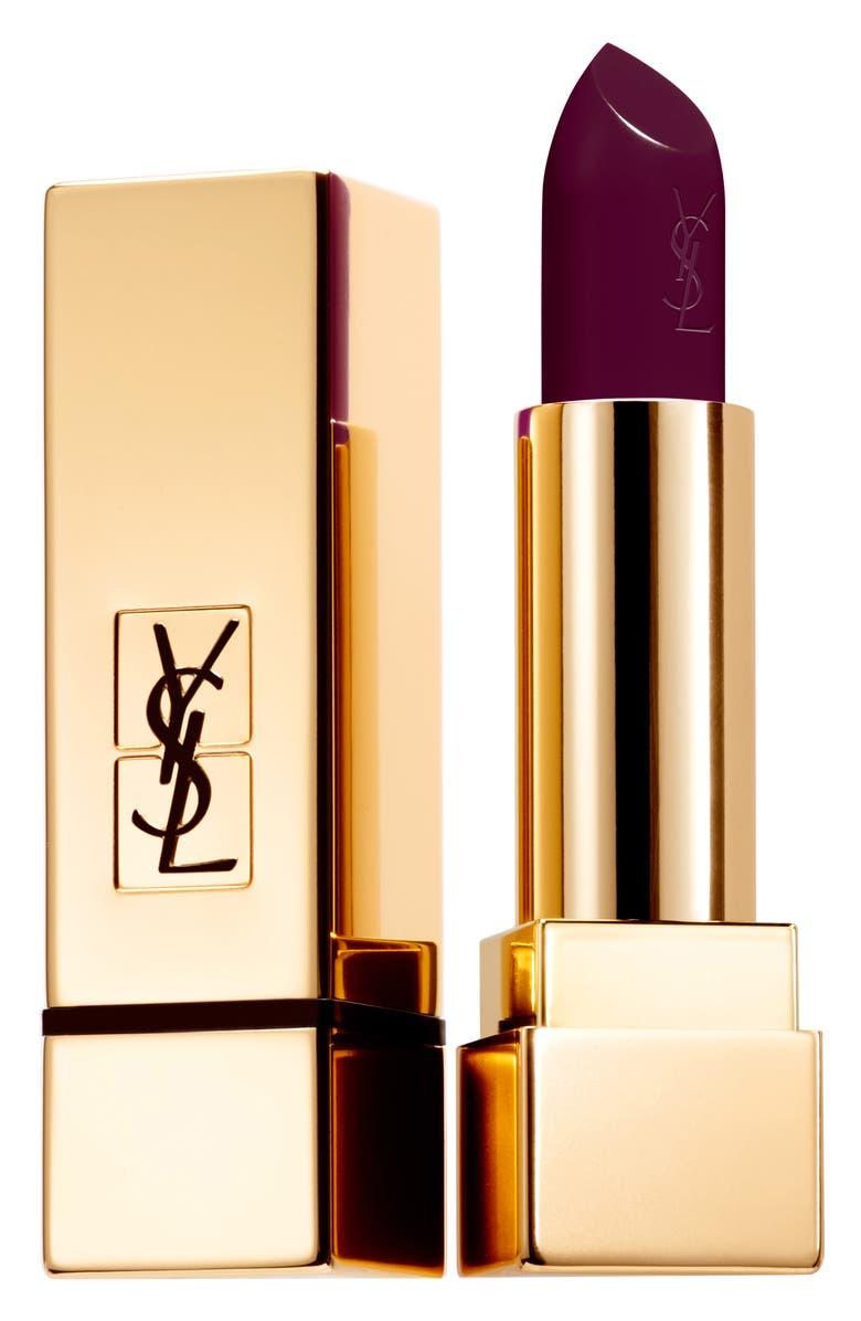 YVES SAINT LAURENT Rouge Pur Couture Satin Lipstick, Main, color, 89 PRUNE POWER