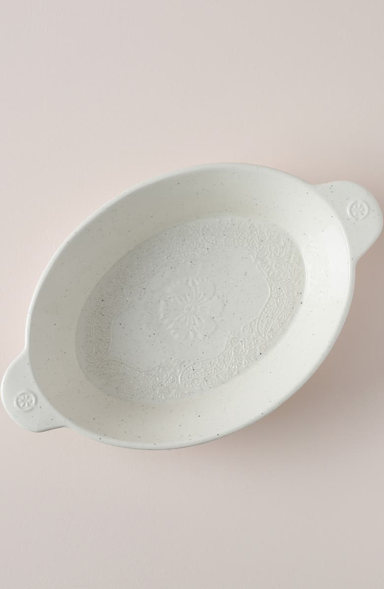 ANTHROPOLOGIE Gertrude Large Oval Baking Dish, Main, color, WHITE