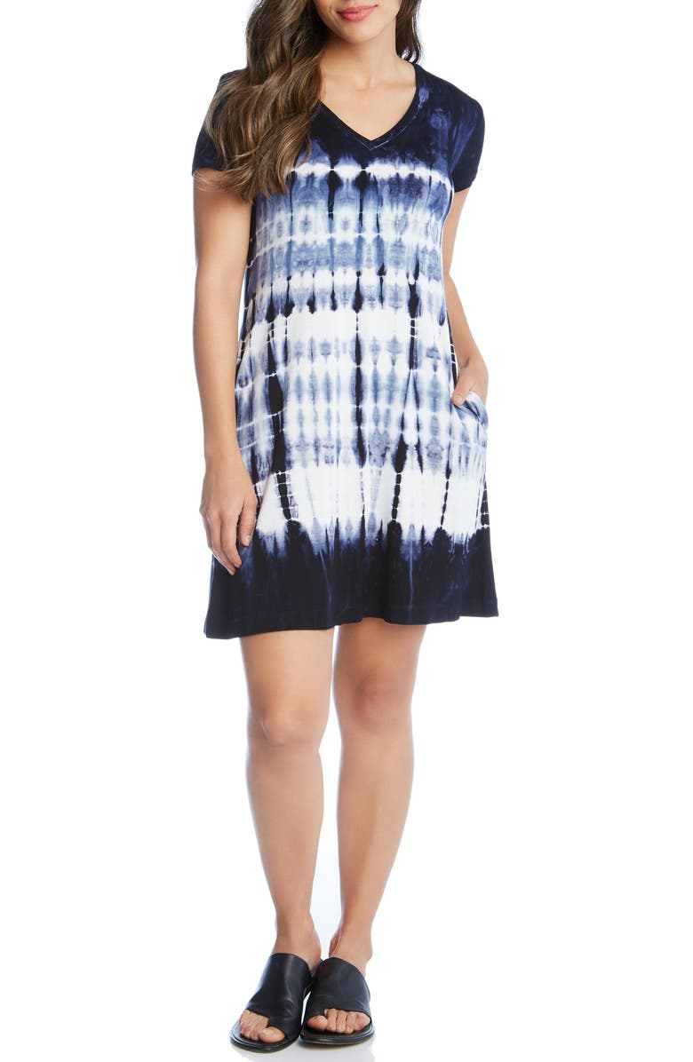 KAREN KANE Quinn Tie Dye Shift Dress, Main, color, 400