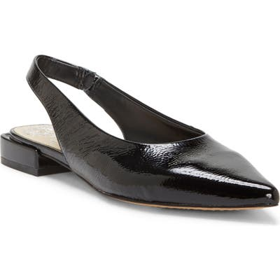 Vince Camuto Chachen Slingback Flat- Black