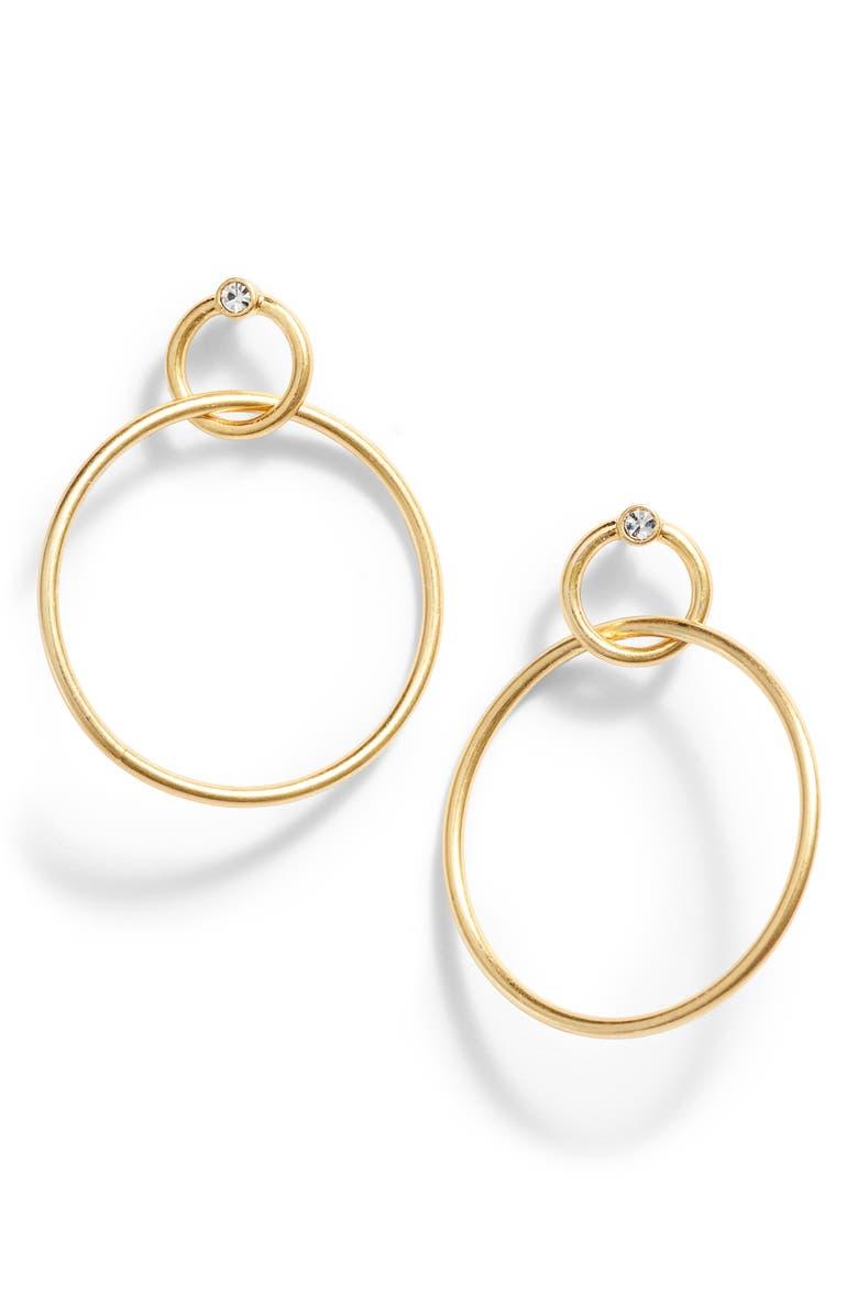 Madewell Sparkle Double Hoop Earrings