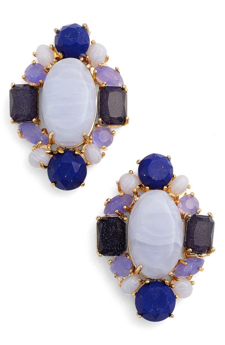 KATE SPADE NEW YORK 'symphony sparkle' stud earrings, Main, color, 400