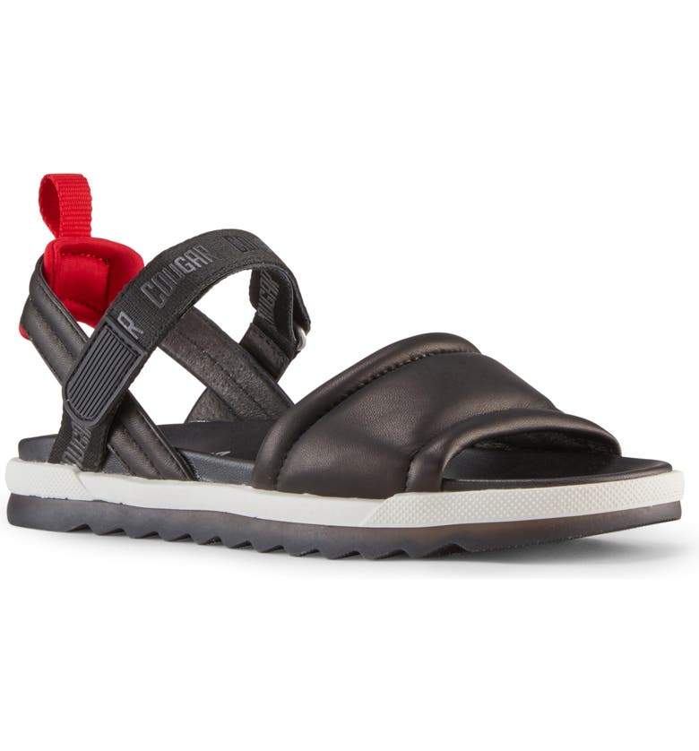 COUGAR Leona Sandal, Main, color, BLACK NAPPA LEATHER