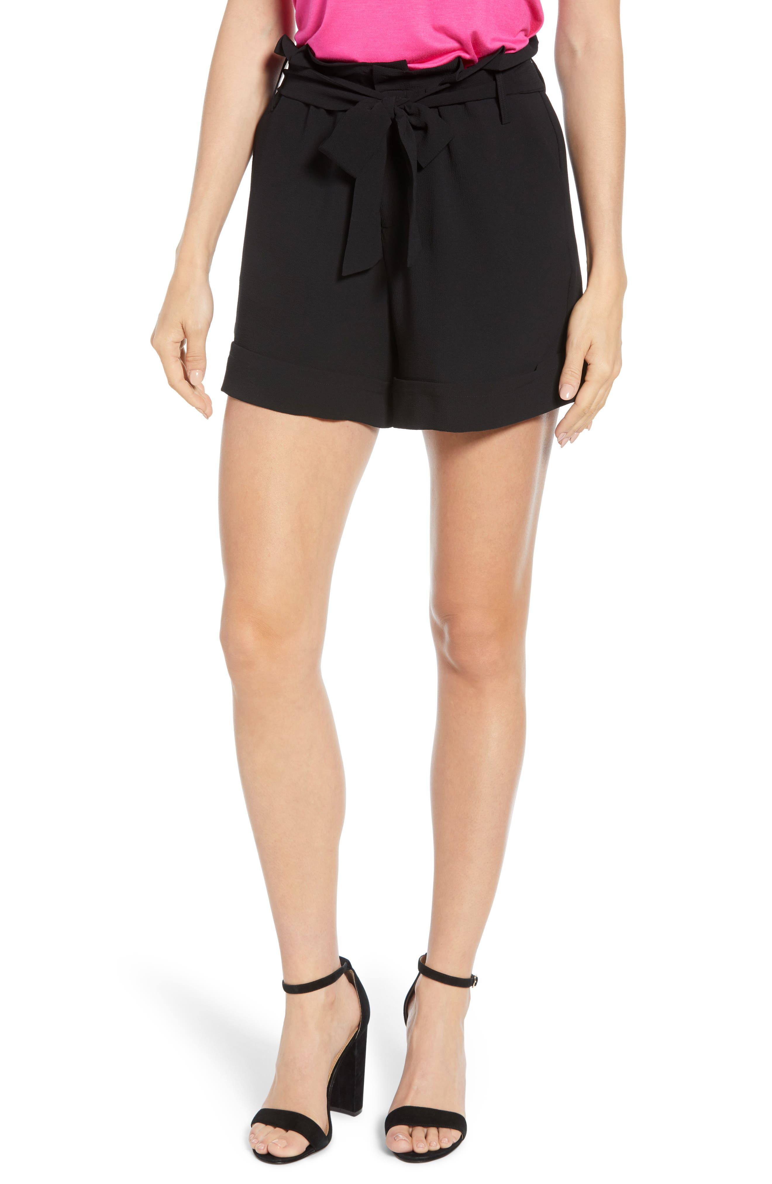 Women's Gibson X Living In Yellow Ivy Paperbag Tie Waist Shorts