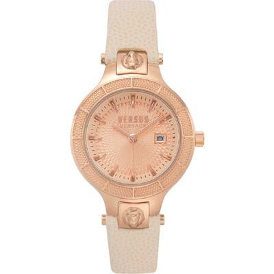 Versus Versace Claremont Leather Strap Watch, 32Mm