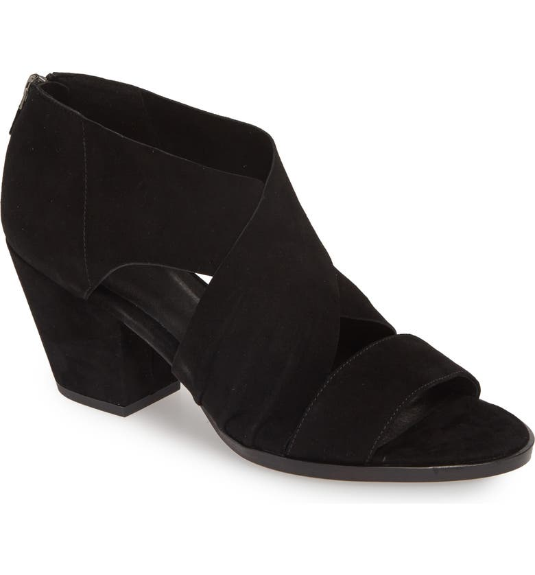 EILEEN FISHER Fond-Su Sandal, Main, color, BLACK SUEDE