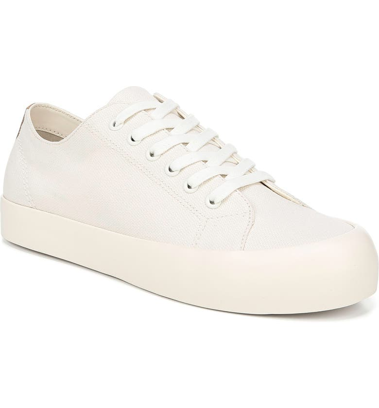 VINCE Norwell Canvas Sneaker, Main, color, WHITE