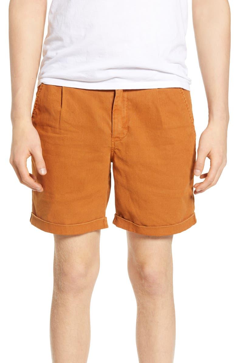 LIFE/AFTER/DENIM Newcastle Regular Fit Shorts, Main, color, COPPERTONE