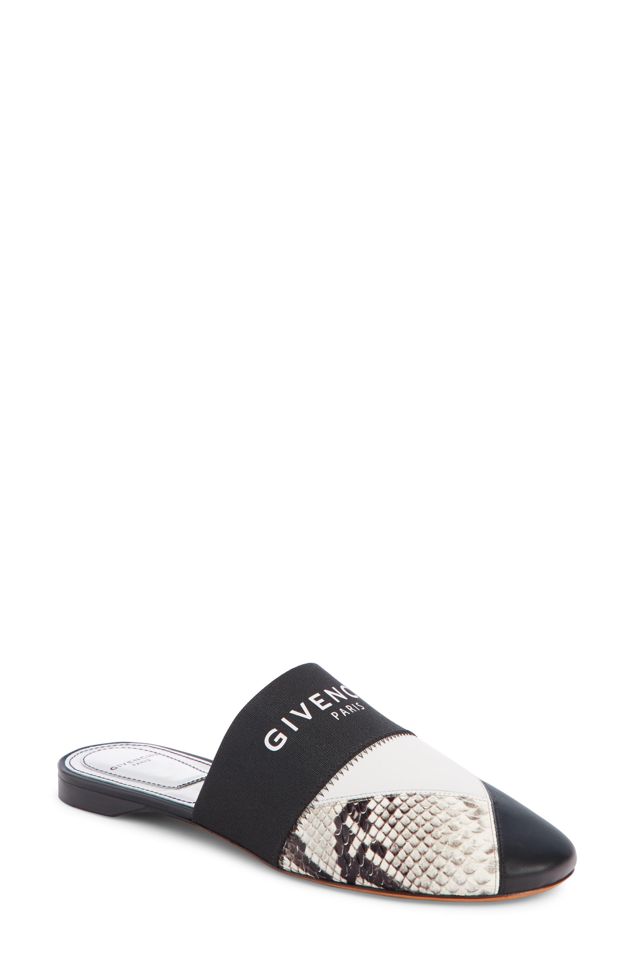 Givenchy Patchwork Logo Mule, Black