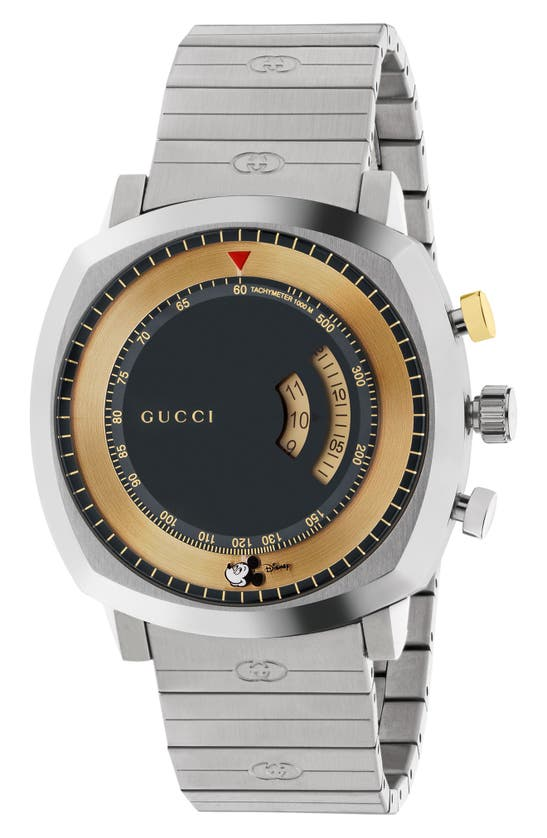 Gucci Grip Chronograph Bracelet Watch, 40mm In Black