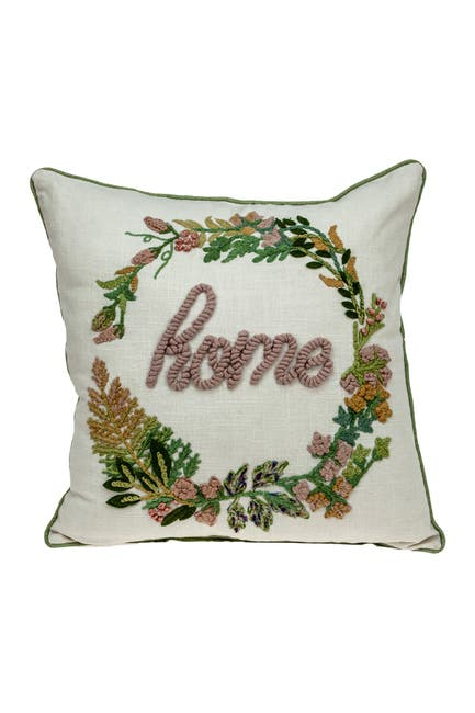 Image of Parkland Collection Manor Beige Throw Pillow