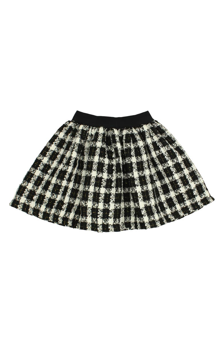 POPATU Check Skirt, Main, color, BLACK/ WHITE