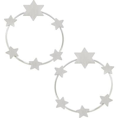 Canvas Jewelry Juliette Star Hoop Earrings