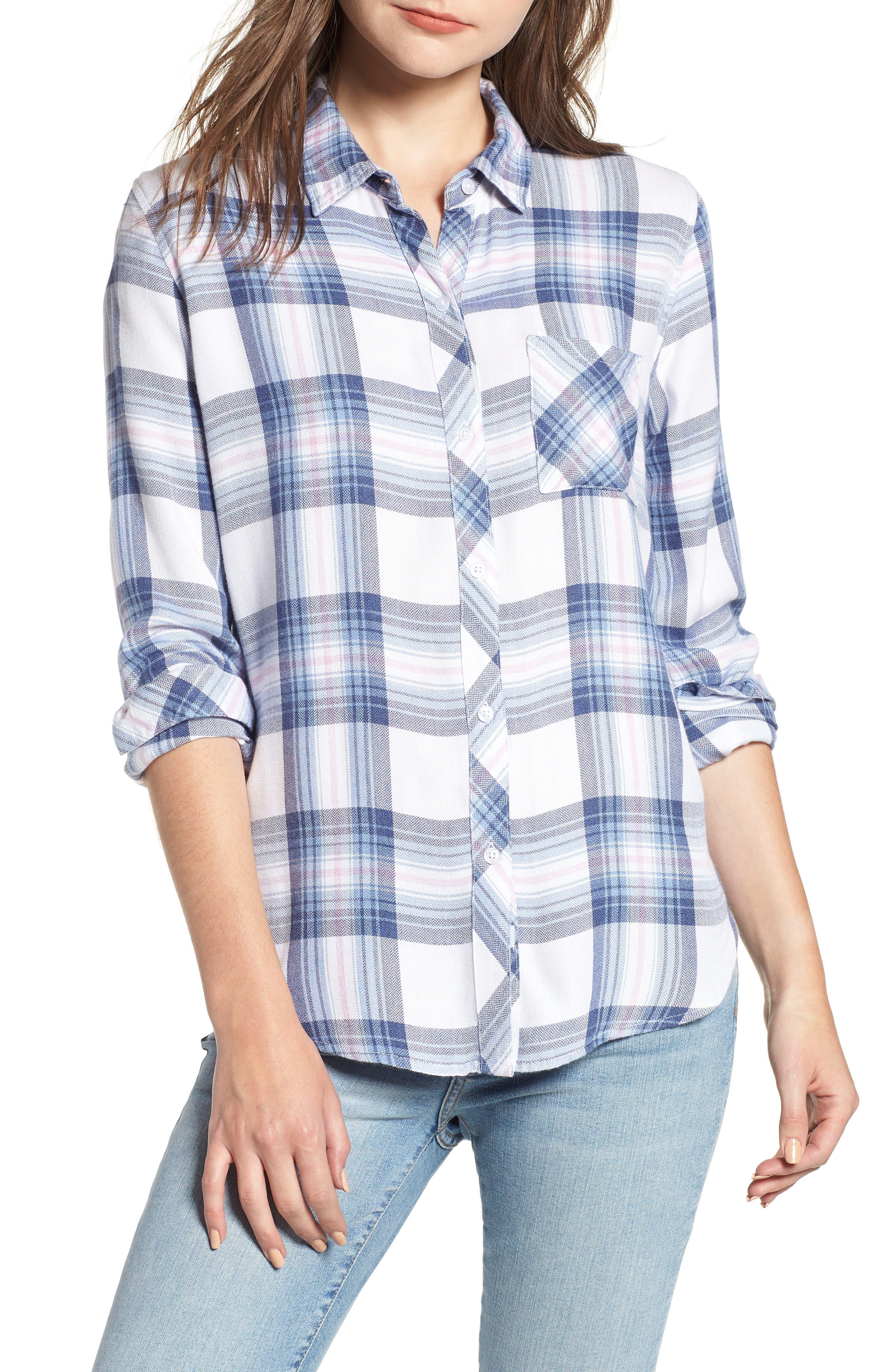 ,                             Hunter Plaid Shirt,                             Main thumbnail 822, color,                             435