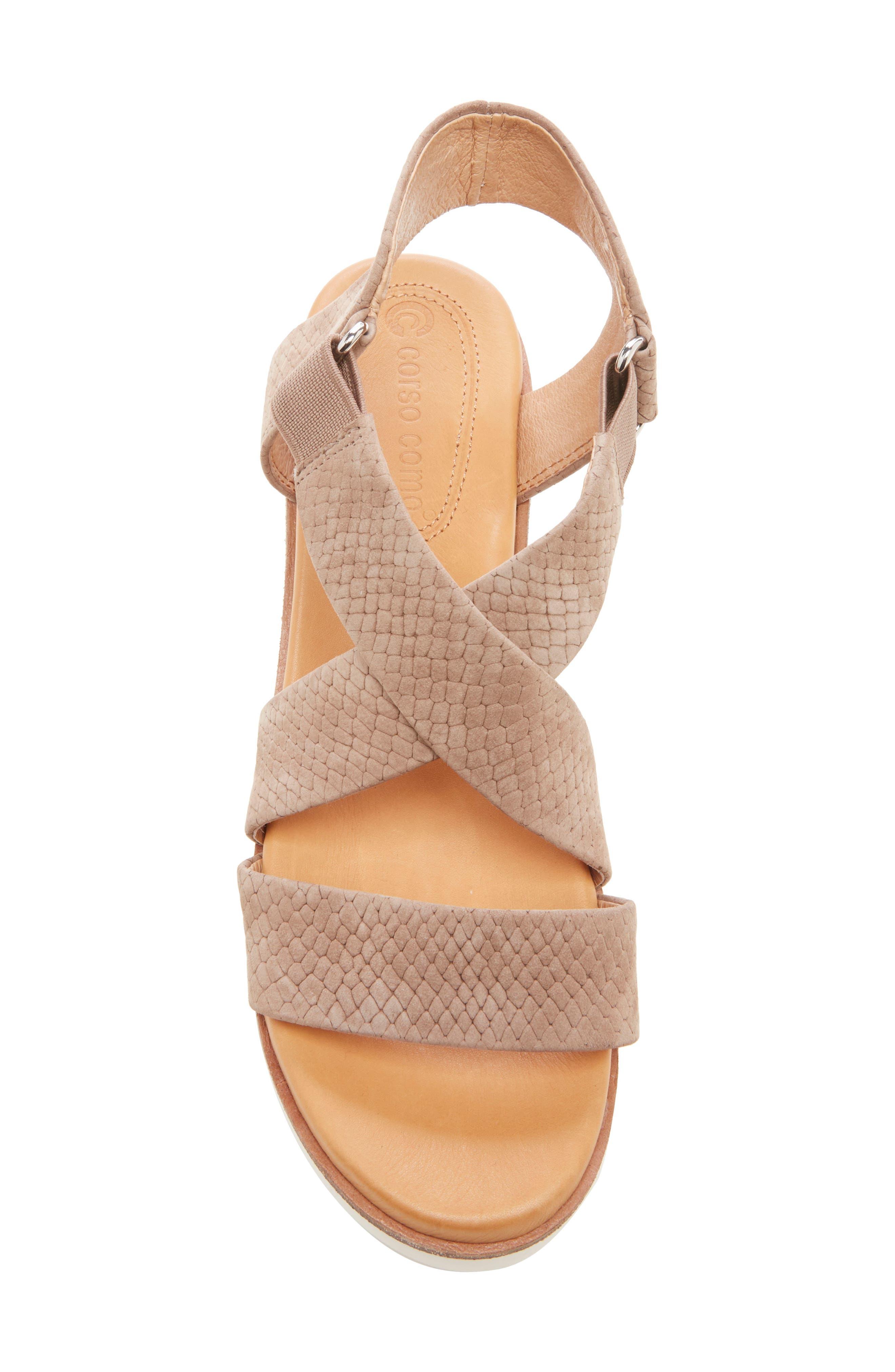 ,                             Bonneigh Platform Sandal,                             Alternate thumbnail 4, color,                             SMOKEY ASH EMBOSSED LEATHER