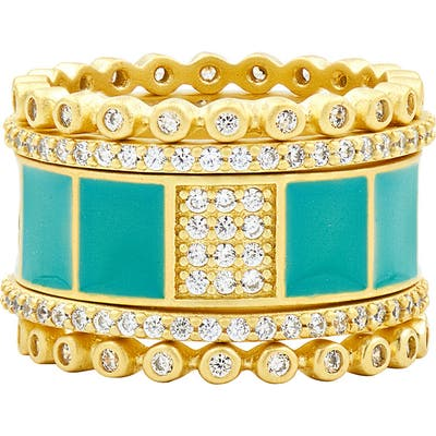 Freida Rothman Harmony Set Of 5 Stackable Rings
