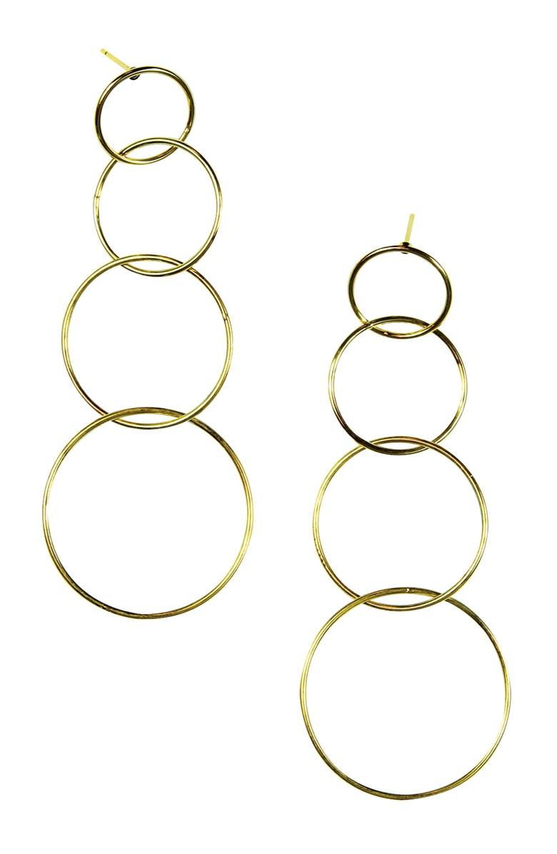 JULES SMITH Quatro Hoop Earrings, Main, color, GOLD