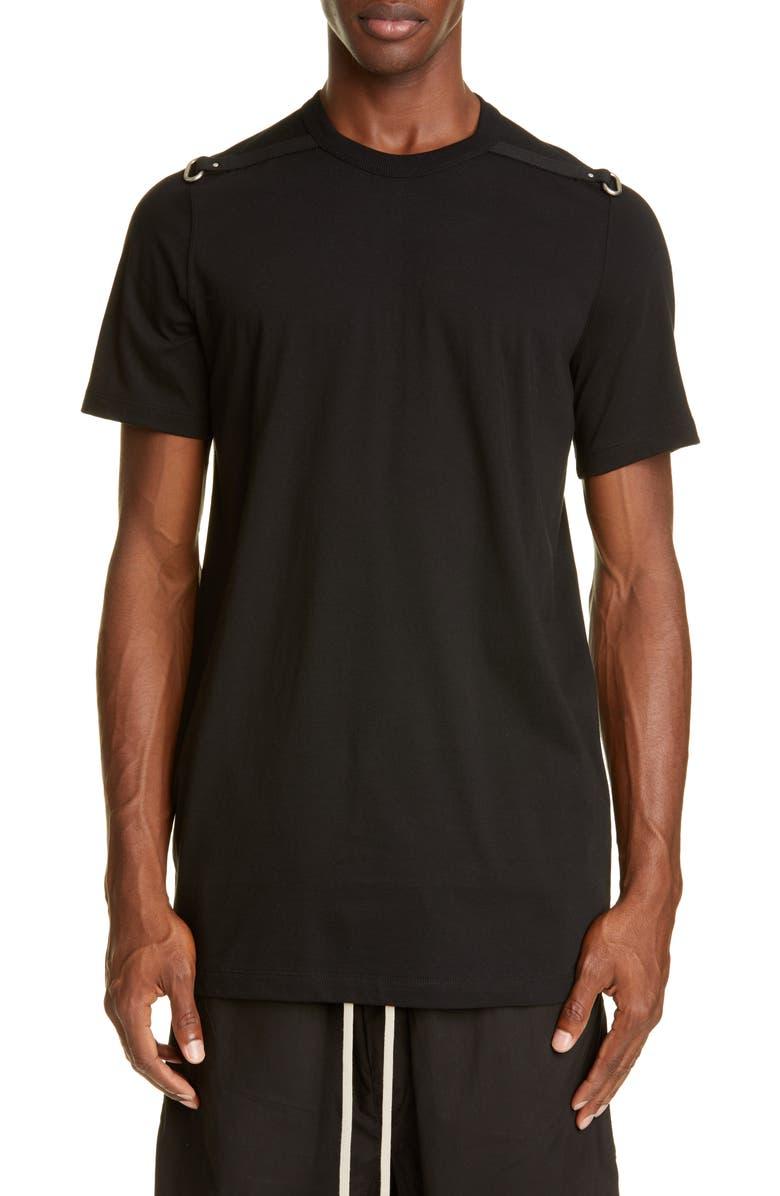 RICK OWENS Level T Jaec1 Ring T-Shirt, Main, color, BLACK