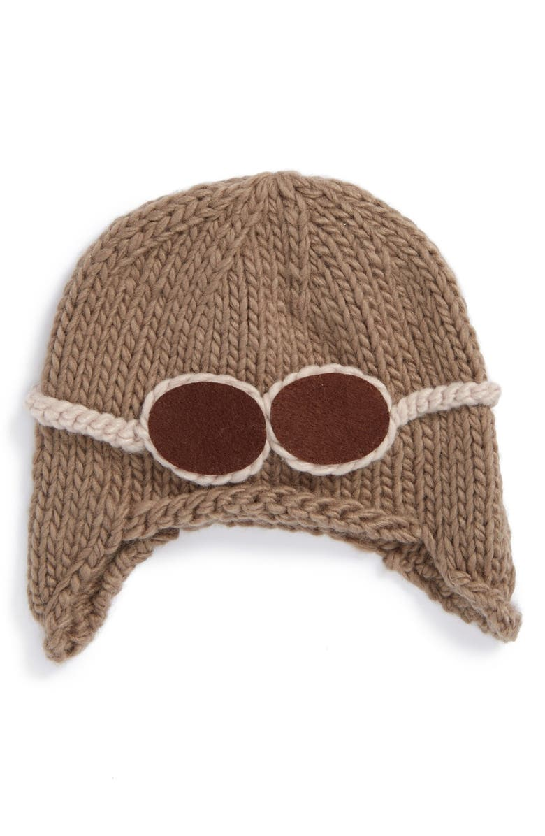 THE BLUEBERRY HILL Blueberry Hill 'Wilber Aviator' Knit Hat, Main, color, 200