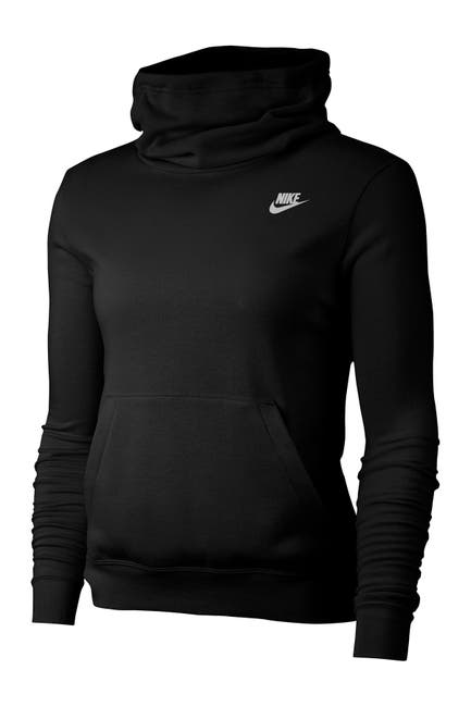 Image of Nike Funnel Neck Fleece Lined Varsity Hooded Pullover