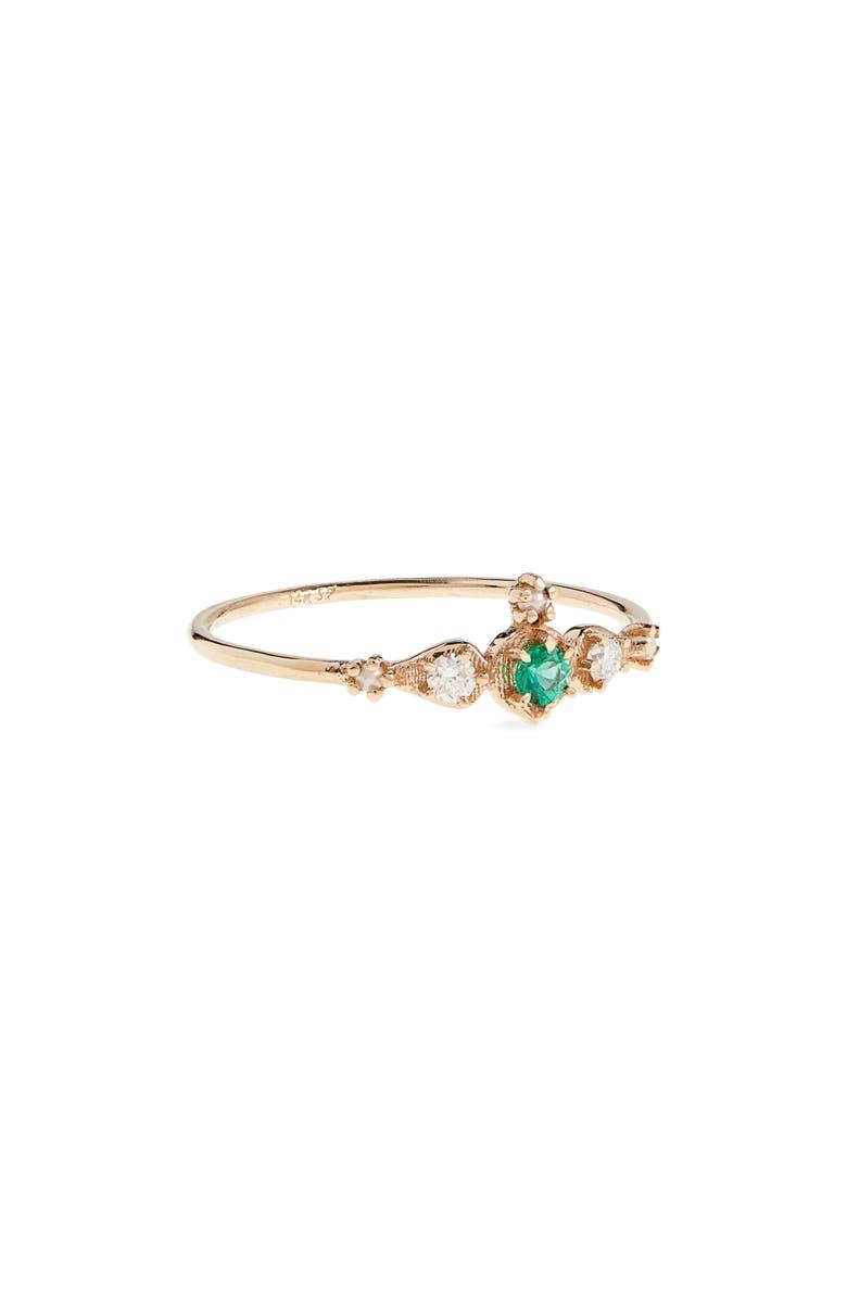 SOFIA ZAKIA Shalimar Ruby, Diamond & Freshwater Pearl Ring, Main, color, 711