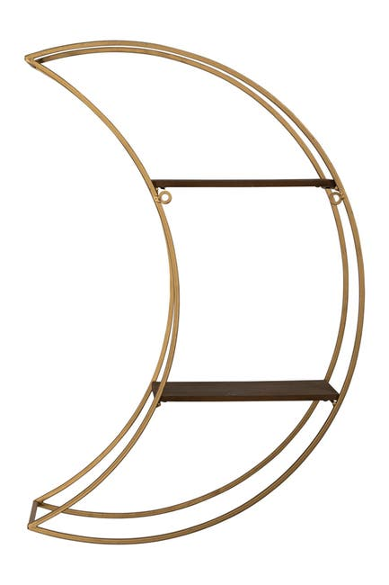 Image of Stratton Home Gold Moon Wall Shelf