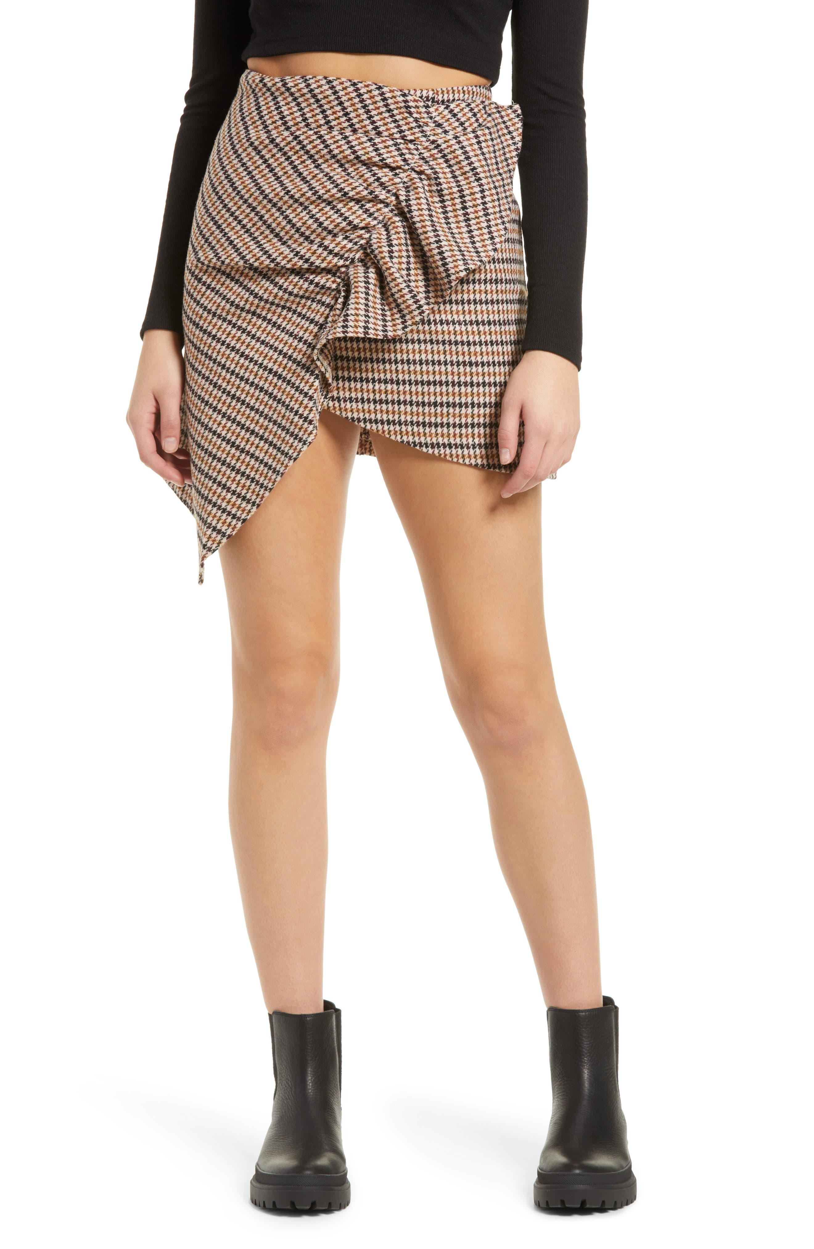 Elizabeth Asymmetrical Hem Ruffle Skirt