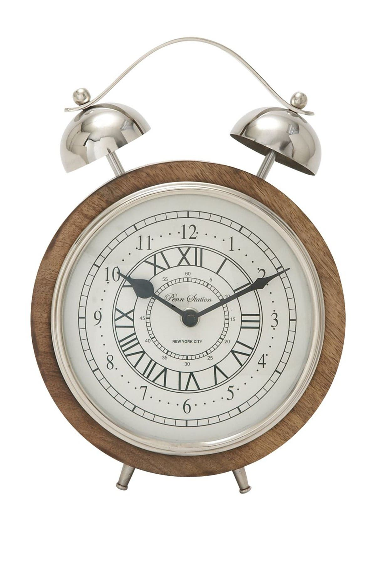 Image of Willow Row Multi Wood & Metal Table Clock